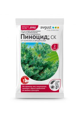 Пиноцид® - незаменимый препарат от комплекса вредителей на хвойных растениях