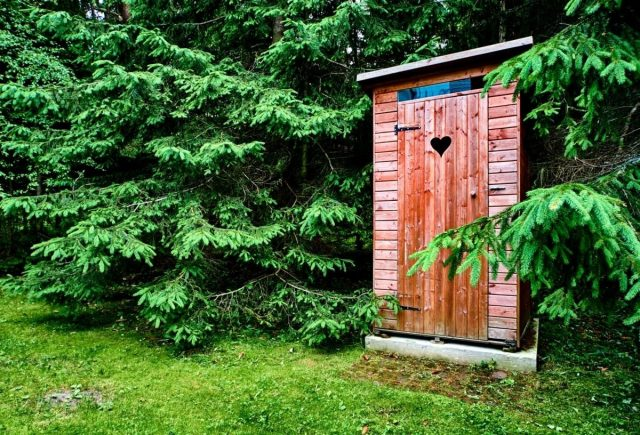 Туалет на участке может иметь различное устройство