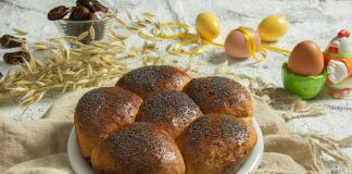 Сладкий пасхальный хлеб с финиками без сахара
