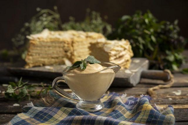 Заварной крем для торта с варёной сгущенкой