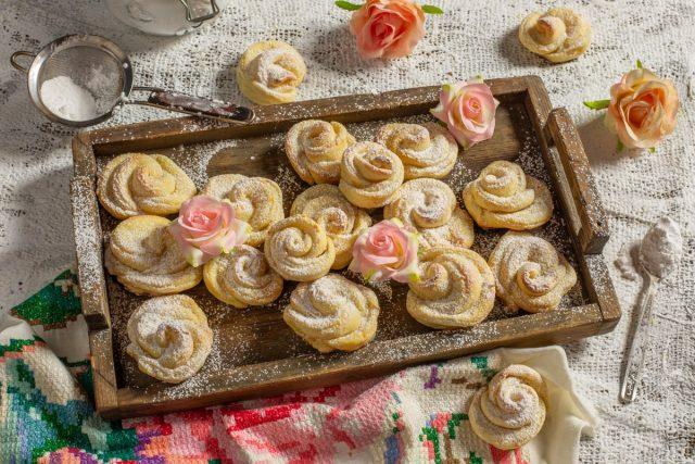 Нежное творожное печенье «Розочки»