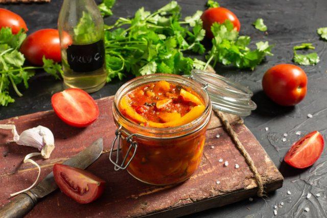 Зимний салат «Кубанский» из сладкого перца