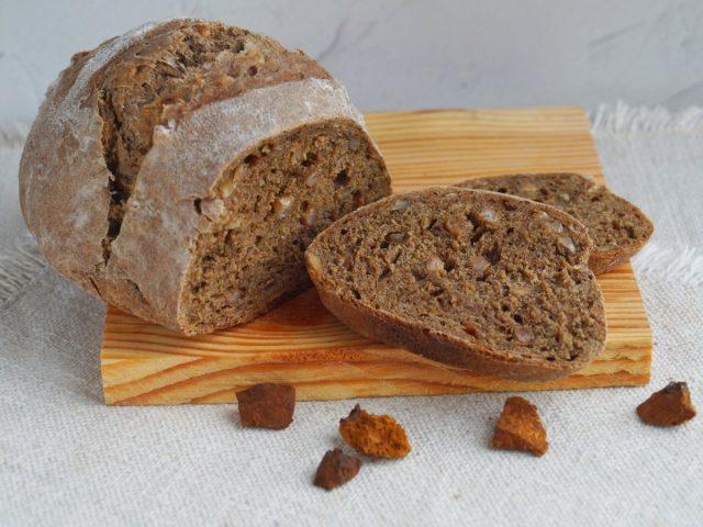Результат наших трудов – домашний березовый хлеб с чагой