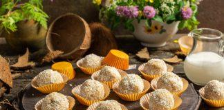 Домашние конфеты из кокосовой стружки