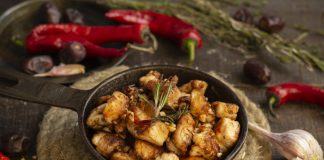 Жареная курица по-мароккански — ужин за 15 минут