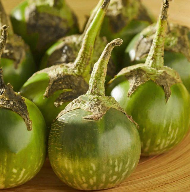 Баклажаны «Зелёное яблоко»