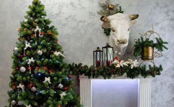 Декоративные элементы интерьеры в виде символа года быка