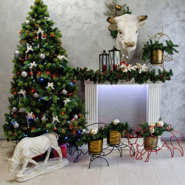 Элементы декора — символы года быка