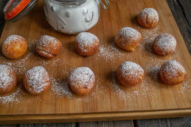 Вкусные творожные пончики из рикотты во фритюре