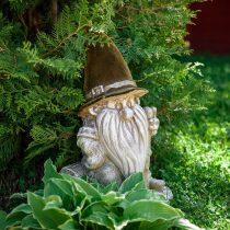 Фигурка для сада Гном на пеньке
