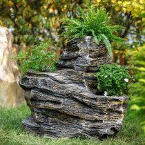 Декоративный камень-кашпо для сада