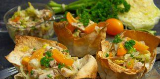 Полезный мясной салат в лаваше, или новый способ приготовления шаурмы