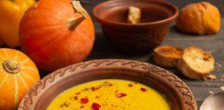 Сливочный суп из тыквы с бататом