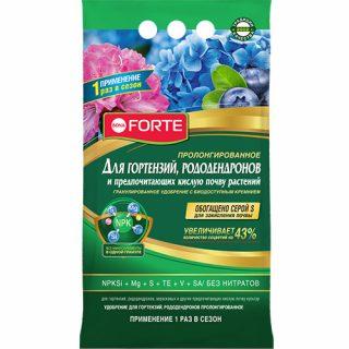 Гранулированное удобрение для гортензий и рододендронов «Bona Forte»