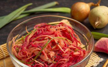 Арбузная редька по-корейски — пикантный овощной салат