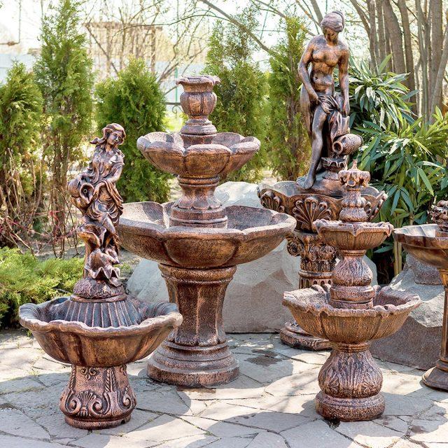Садовые фонтаны на участке — фото