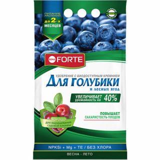 Гранулы «Bona Forte» для подкормки голубики и лесных ягод