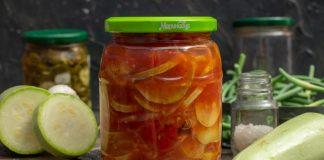 Кабачковый салат на зиму с сельдереем и помидорами