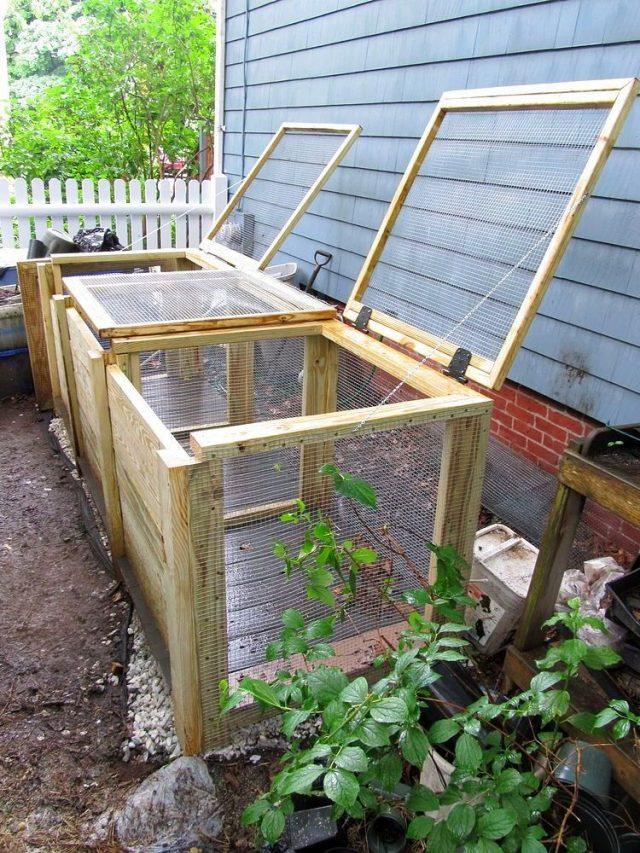 Боковой двор— хорошее место для установки ящика для компоста