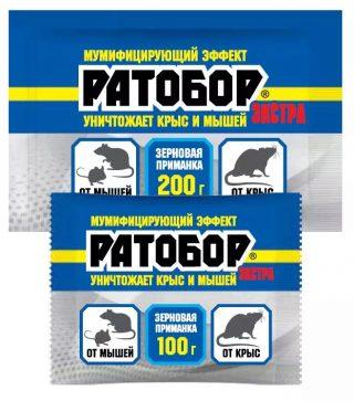 Зерновая приманка для крыс и мышей «Ратобор Экстра»