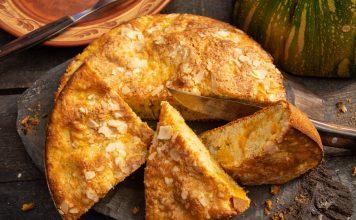 Осенний кекс с запеченной тыквой